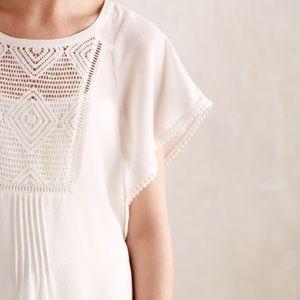 White Anthropologie blouse